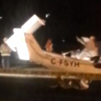 Canadian man killed after stealing a plane and crashing it onto road