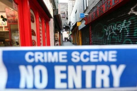 A file picture of a Garda crime scene.