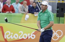 Pádraig Harrington shoots a 67 to fire himself into medal contention at Rio 2016