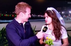 A rowdy hen party gatecrashed BBC's Olympics coverage last night, and it was hilarious