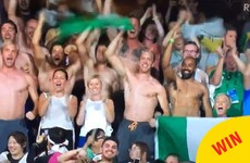 The Irish hockey team all took their tops off in tribute to a losing Olympian last night