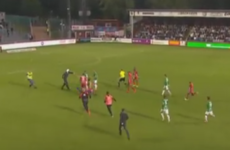Swedish football match abandoned after masked pitch invader assaults goalkeeper