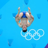 History-maker! Ireland's Oliver Dingley has qualified for the final of the men's springboard