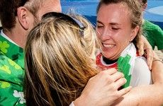 'She kept her head. She was going to take that medal home if it killed her'