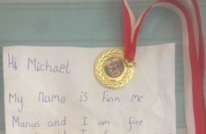 A five-year-old from Dublin has offered his school medal to Michael Conlan