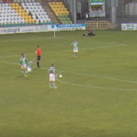 There was no stopping this rocket of a free-kick from Gary McCabe