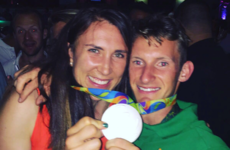 This joyous pic from Rio shows two of our champs celebrating their wins together