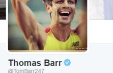 Irish Olympian Thomas Barr has the best bio on Twitter right now