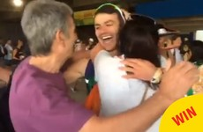 The moment Thomas Barr ran into his parents after the Olympic final was just lovely