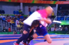 An Olympic wrestler celebrated winning gold by casually body-slamming her coach