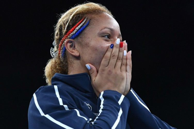 Estelle Mossely after winning gold for France in Rio