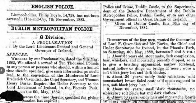 'Garda Pulse system' from the 1800s reveal details of Ireland's most famous Victorian crimes