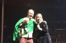 Adele brought an Irishman and his dog up on stage in California