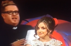 A man dressed as a priest has just invaded the stage at the Rose of Tralee