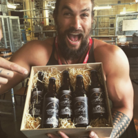 Khal Drogo (AKA Jason Momoa) is having an absolute field day in the Guinness Brewery