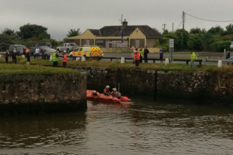 The search began in Courtown yesterday morning.