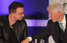 Bono wanted the Clintons to help him call the International Space Station