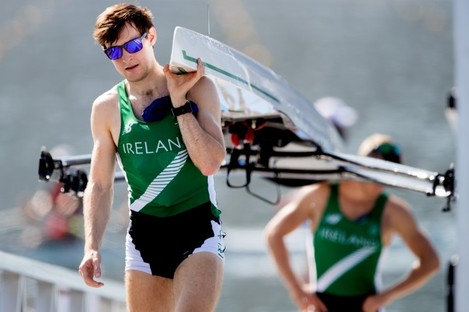 Paul O'Donovan is showing no signs of fatigue from his efforts in Rio.