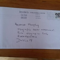 An Post did a stellar job of delivering this letter to Annalise Murphy