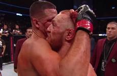 'Great fight, brother' - UFC footage captures sporting exchange between McGregor and Diaz