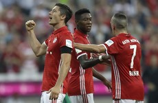 Lewandowski hits hat-trick despite hole in right boot to give Ancelotti perfect start at Bayern