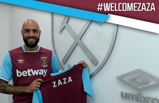 West Ham complete season-long loan move of Italian striker Simone Zaza