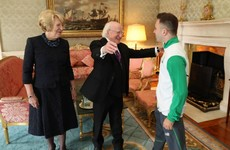 The photos of Michael D welcoming home Ireland's Olympians are glorious