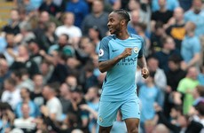 Sterling double sends Pep's City to the top of the Premier League