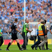 Kerry supporters appear to throw objects at referee following controversial finish at Croke Park