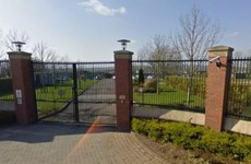 A fire is blazing on the roof of Oberstown's youth detention centre