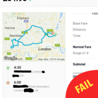 This chancer of a taxi driver took a woman who fell asleep on a 56km detour