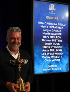 Lowry misses out as Darren Clarke reveals his captain's picks for Ryder Cup