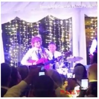 Ed Sheeran and Snow Patrol serenaded the guests at a wedding in Derry