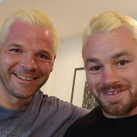 Leinster rugby stars go blonde and bald in bid to raise funds for departing coach McQuilkin