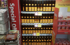 Well, the SuperValu in Stradbally is ready for the weekend anyway