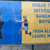 A gas hurling flag featuring Kim Kardashian has been spotted in Cashel