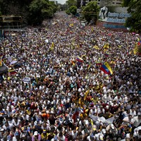 Hundreds of thousands march against government in Venezuela