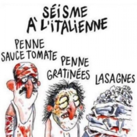 Charlie Hebdo have drawn cartoons featuring Italy's earthquake victims as lasagne