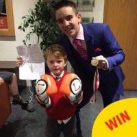 The little boy who offered Michael Conlan his school medal finally got to give it to him in person
