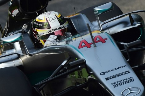 Mercedes' Lewis Hamilton qualifying for the Italian Grand Prix.