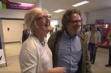 A couple were reunited after 29 years apart in Knock Airport, and it was just gorgeous
