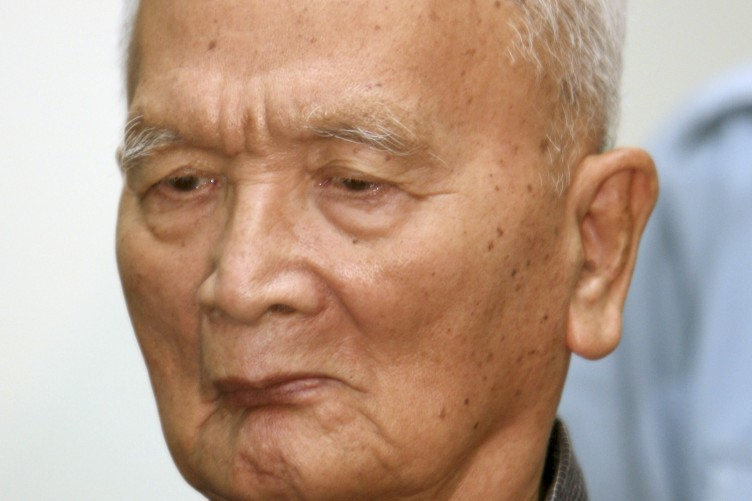 File photo of Noun Chea, a former Khmer Rouge leader and right hand man to Pol Pot