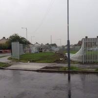 Car crashed through fence at Dublin modular housing site, then set alight