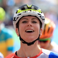 A month after fracturing her spine in a horror crash at the Olympics, Dutch rider wins race