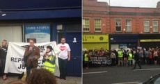 Hundreds take part in protest outside controversial crisis pregnancy clinic