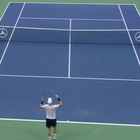 Andy Murray fell apart at the US Open after a bizarre 'gong' sound interrupted play