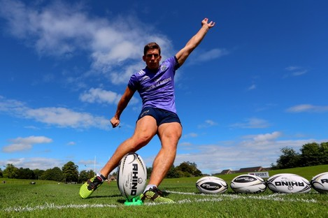 Ian Keatley pictured in training at UL this week.