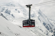 Over 30 people spent the night stuck in cable cars over Alps