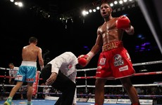 Brave Brook's corner throw in the towel as Golovkin wins gripping bout in London