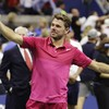 Wawrinka conquers nerves, pain and Djokovic in US Open win